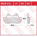 Тормозные колодки LUCAS MCB512