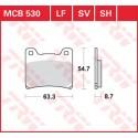 Тормозные колодки LUCAS MCB530SH