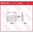 Тормозные колодки LUCAS MCB531