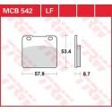 Тормозные колодки LUCAS MCB542