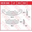 Тормозные колодки LUCAS MCB569