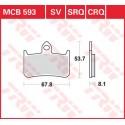 Тормозные колодки LUCAS MCB593