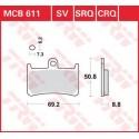 Тормозные колодки LUCAS MCB611SV